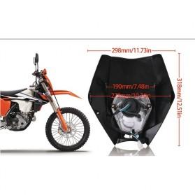 POWERZONE Lampu Pengganti Motorcycle Headlight Headlamp H4 12V 35W For 2017 18 KTM - HF001 - Black - 9