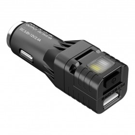 Nitecore USB Car Charger 1 Port QC3.0 with Emergency LED Light + Glass Breaker - VCL10 - Black