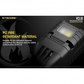 Nitecore USB Car Charger 1 Port QC3.0 with Emergency LED Light + Glass Breaker - VCL10 - Black - 7
