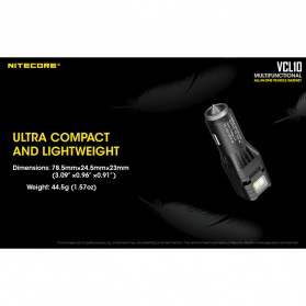 Nitecore USB Car Charger 1 Port QC3.0 with Emergency LED Light + Glass Breaker - VCL10 - Black - 9