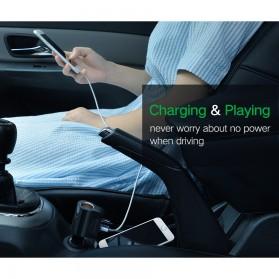 UGreen Car Charger 2 USB Port 3.4A dengan Cigarette Plug - CD115 - Black - 2