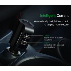 UGreen Car Charger 2 USB Port 3.4A dengan Cigarette Plug - CD115 - Black - 4