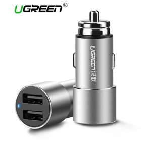 UGREEN Smartphone Car Charger Mobil 2 Port 3.6A - CD169 - Black
