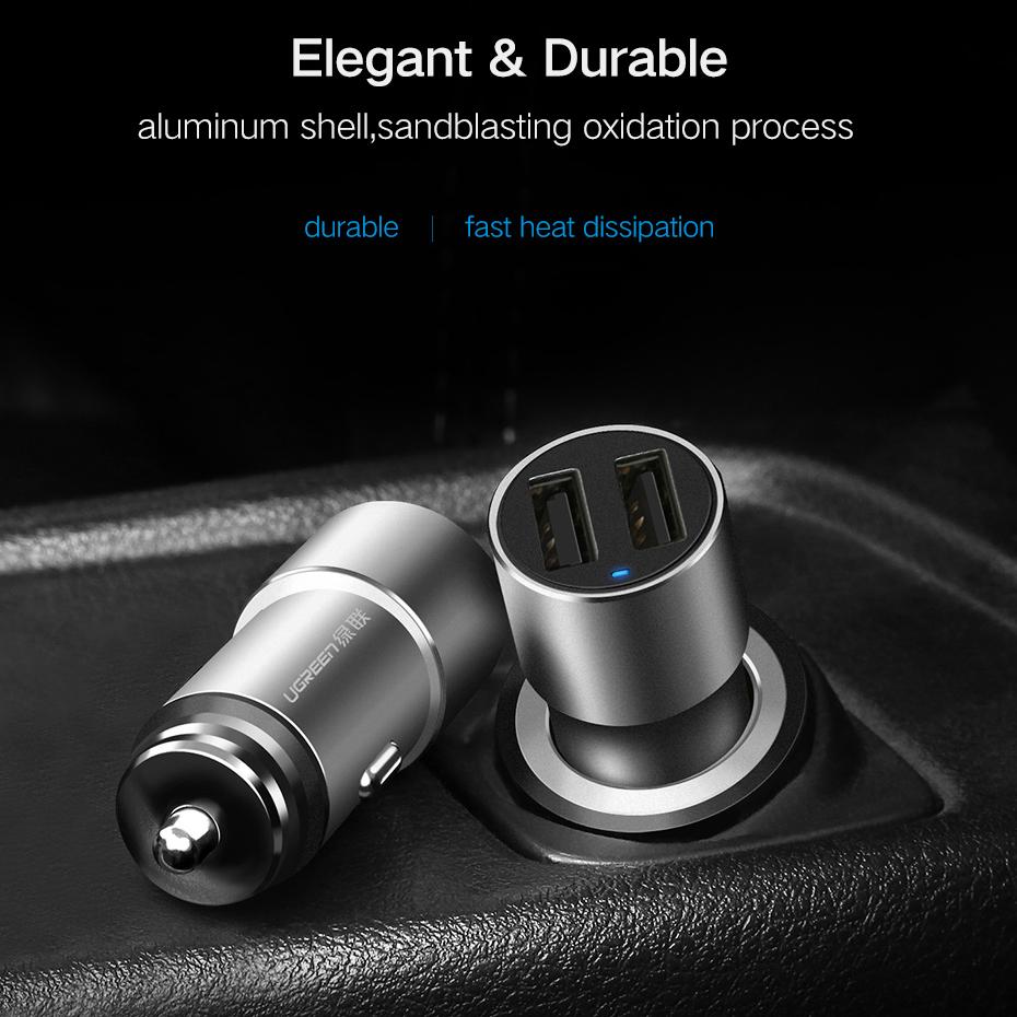 Ugreen Smartphone Car Charger Mobil 2 Port 36a Cd169 Black Remax 3 Usb 8