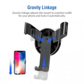 UGREEN Car Holder Smartphone Mobil Gravity Reaction - Black - 2