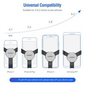 UGREEN Car Holder Smartphone Mobil Gravity Reaction - Black - 6