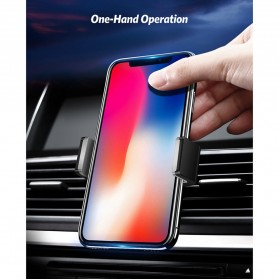 UGREEN Car Holder Smartphone Mobil Air Vent Both Stretch -  LP-120 - Black - 2
