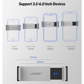 UGREEN Car Holder Smartphone Mobil Air Vent Side Stretch - 30283 - Black - 4