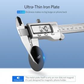 UGREEN Metal Plate Iron Sheet for Magnetic Car Holder Model Square 2 PCS - 50869 - Black - 5