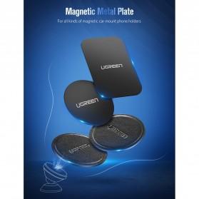 UGREEN Metal Plate Iron Sheet for Magnetic Car Holder Model Square 2 PCS - 50869 - Black - 7