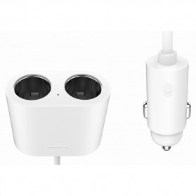 Xiaomi Roidmi Car Cigarette Lighter Splitter 2 Port - DYQ01RM - Black - 4
