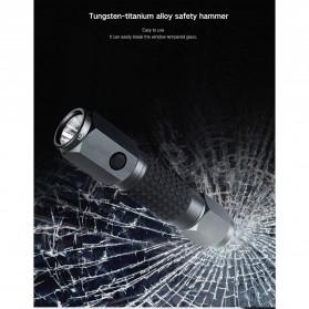 Xiaomi Youpin LEAO Senter LED Flashlight Safety Glass Breaker Hammer Cree XP-E2 - Black - 7