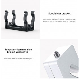 Xiaomi Youpin LEAO Senter LED Flashlight Safety Glass Breaker Hammer Cree XP-E2 - Black - 8