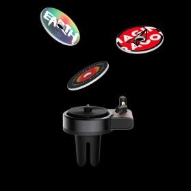 Xiaomi Youpin TITA Parfum Mobil Car Fragrance Aromatherapy Turntable with 3 PCS Tablets - DSHJ-B-1902 - Black - 2