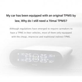 Xiaomi 70mai Midrive Monitoring Tekanan Ban Mobil Wireless Real Time TPMS Solar Power - T02 - Black - 9