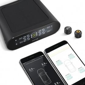 Xiaomi 70mai Midrive Monitoring Tekanan Ban Mobil Wireless Real Time TPMS Solar Power - T02 - Black - 2