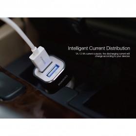 Romoss Car Charger Smartphone Mobil 2 Port 2.4A - AM12 - Black - 10