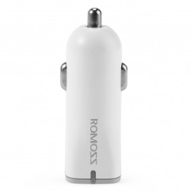 Romoss Car Charger Smartphone Mobil 1 Port 2.4A Quick Charge 2.0 - AU15 - White - 7