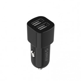 Orico Dual USB Car Charger 2.4A for Smartphone - UCL-2U - Black/Gray - 5