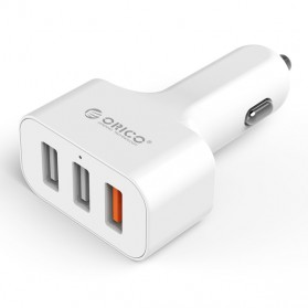 Orico USB Car Charger 3 Port with Qualcomm Quick Charge 2.0 - UCH-2U1Q - White - 1