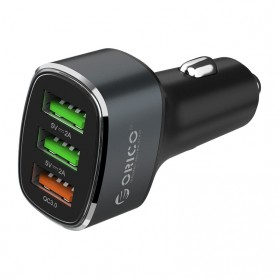 Orico Car Charger 3 USB Port 3A QC3.0 - UPB-3U - Gray