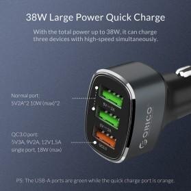 Orico Car Charger 3 USB Port 3A QC3.0 - UPB-3U - Gray - 7