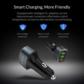 Orico Car Charger 3 USB Port 3A QC3.0 - UPB-3U - Gray - 10