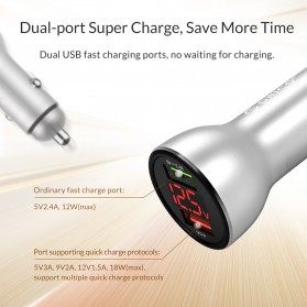 Orico Car Charger Dual USB Port 3A QC 3.0 - UPF-K2 - Silver - 7