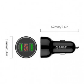 Orico Car Charger Dual USB Port 2.1A - UPK-2U - Black - 3