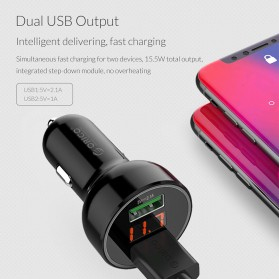 Orico Car Charger Dual USB Port 2.1A - UPK-2U - Black - 6