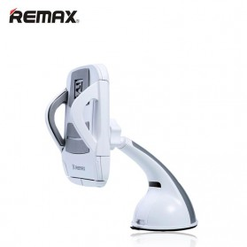 Remax Car Suction Cup Smartphone Holder - RM-C04 - Gray/White - 1