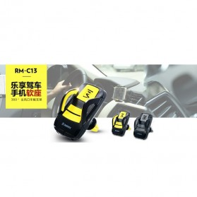 Remax Air Vent Smartphone Holder - RM-C13 - Black/Yellow - 4