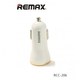 Remax Dolfin Dual USB Car Charger 2.4A for Smartphone - RCC206 - Golden