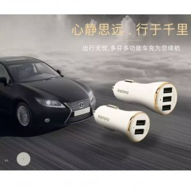 Remax Dolfin Triple USB Car Charger 3.4A for Smartphone - RCC303 - Golden - 4