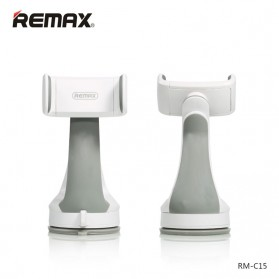 Remax Car Suction Cup Smartphone Holder - RM-C15 - Gray/White