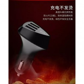 Remax Charger Mobil Aliens Series Car Charger 3 USB 4.2A - RC-C304 - Black - 8