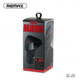 Remax Charger Mobil Aliens Series Car Charger 3 USB 4.2A - RC-C304 - Black - 13