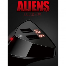 Remax Charger Mobil Aliens Series Car Charger 2 USB 3.4A - RCC-208 - Black - 8
