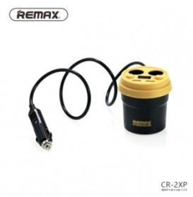 Remax Coffee Cup Dual USB Car Charger 2.1A for Smartphone - Black/Yellow