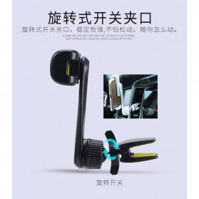 Remax Air Vent Universal Car Holder for Smartphone - RM-C24 - Black/Yellow - 6