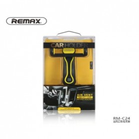 Remax Air Vent Universal Car Holder for Smartphone - RM-C24 - Black/Yellow - 11