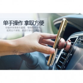 Remax 360 Degrees Mobile Car Holder with Casing iPhone 7/8 - RM-C19 - Black - 6