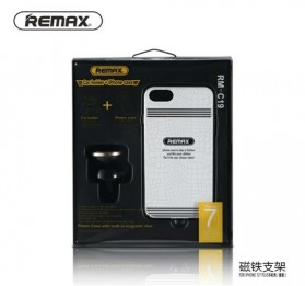 REMAX 360 Degrees Mobile Car Holder with Casing iPhone 7/8 Plus - RM-C19 - White