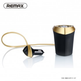 Remax Charger Mobil 3 Port USB & 2 Cigarette Plug - CR-3XP - Black/Yellow