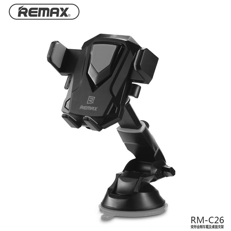 Remax Car Holder Smartphone Suction Cup - RM-C26 - Black/Gray - 1