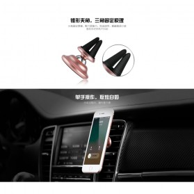 REMAX 360 Degree Smartphone Air Vent Car Holder Magnetic - RM-C28 - Black - 4