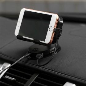 Remax Car Holder Charger Smartphone dengan 2 Cooling Fan - RT-EM14 - Black - 2