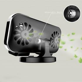 Remax Car Holder Charger Smartphone dengan 2 Cooling Fan - RT-EM14 - Black - 3