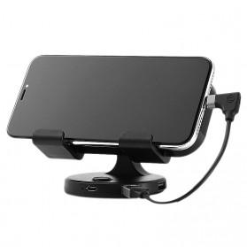 Remax Car Holder Charger Smartphone dengan 2 Cooling Fan - RT-EM14 - Black - 4