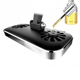 Remax Car Holder Charger Smartphone dengan 2 Cooling Fan - RT-EM14 - Black - 7